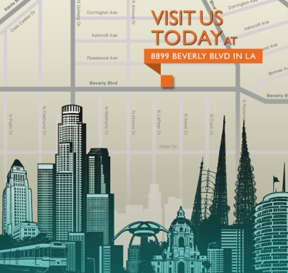 Los Angeles Showroom map