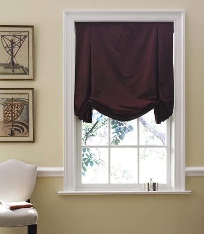 Tulip Roman Shade, Silk window Treatments