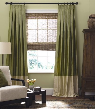 silk window treatments from the shade store, drapery