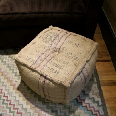 Vintage Sack Ottoman in A&G Merch