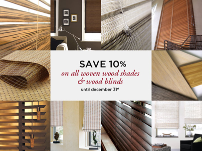 Eco-Friendly Woven Woods & Blinds Sale