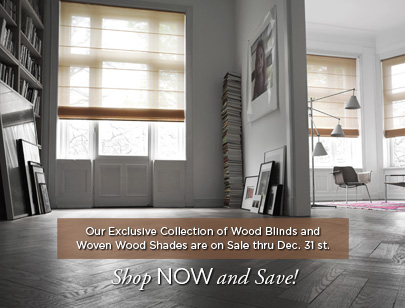 Woven Wood Shades & Wood Blinds Sale
