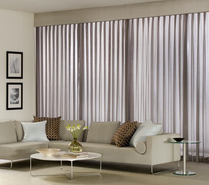 Modern Style Cornice & Pinch Pleat Drapery by The Shade Store