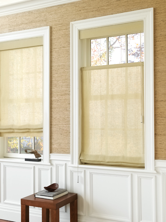 Traditional Style Roman Shades