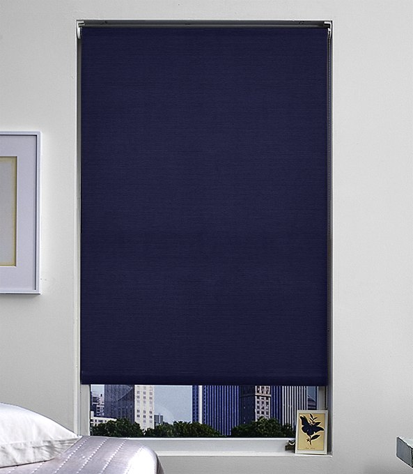 Blackout Roller Shade by The Shade Store, in Hudson Indigo