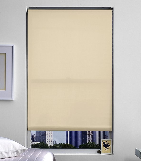 Blackout Roller Shades by The Shade Store, in Flocke Wheat