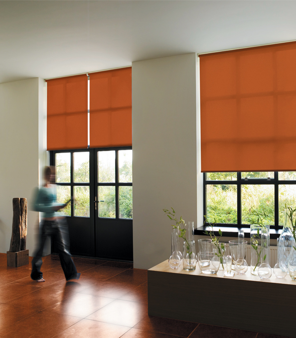 roller shades from the shade store door window treatments - Window Treatment Design Ideas