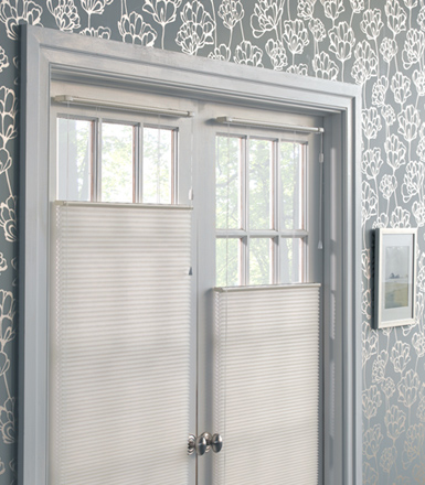 Cellular Shades by The Shade Store, for door window treatments