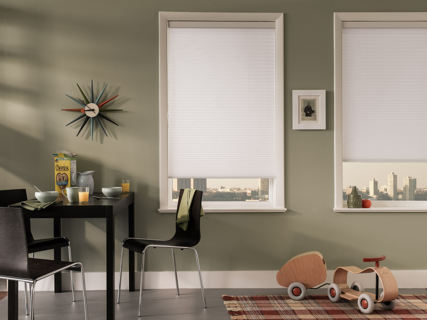 Cellular shades insulate your home and cut energy costs.