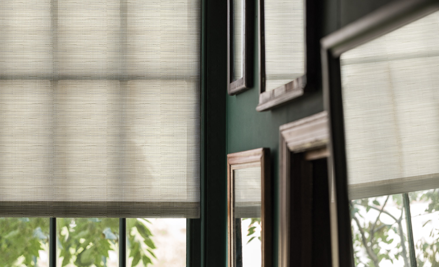 Designer Sandy Chilewich produced a line of indoor plant friendly window treatments.
