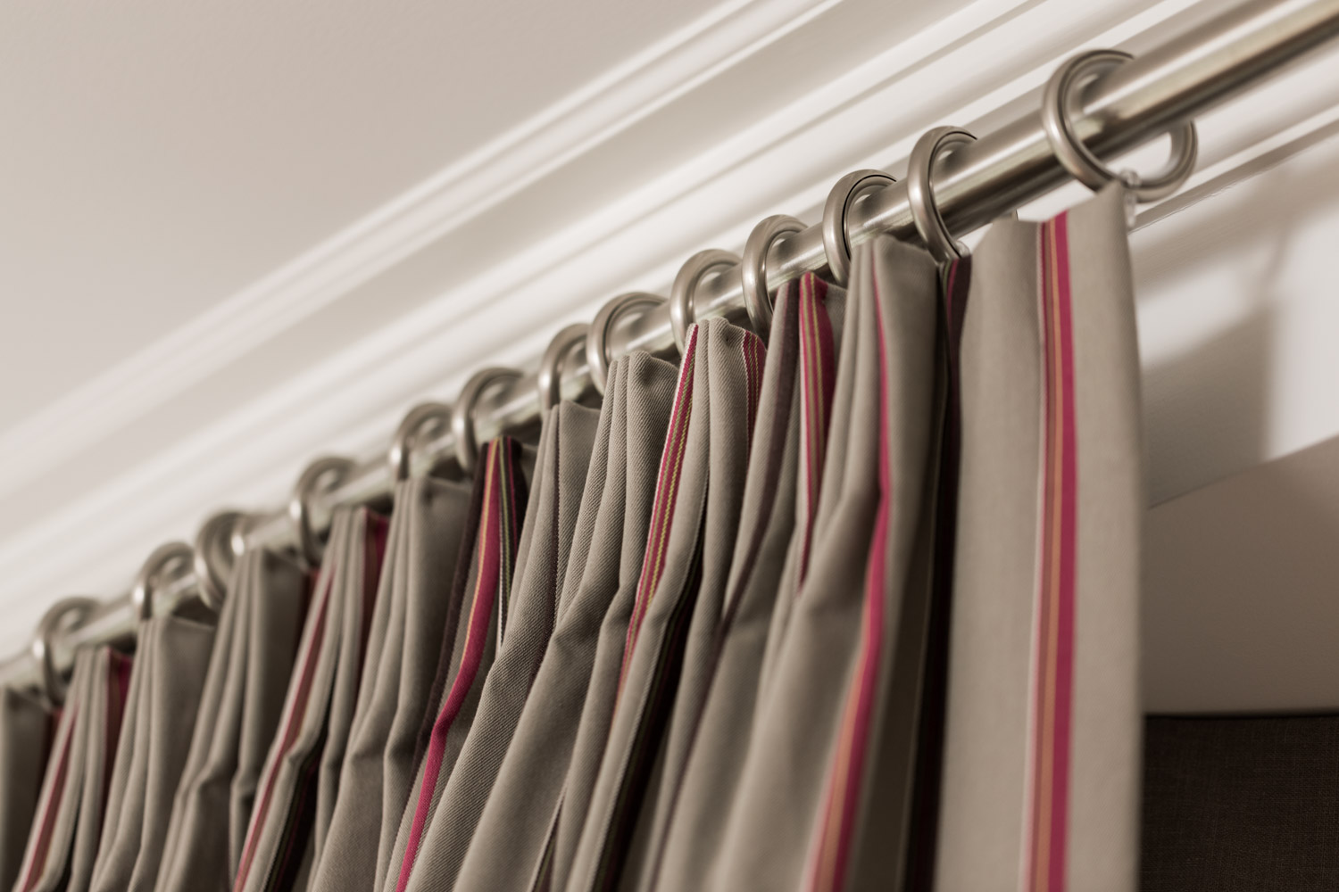 Mounting your window treatments near the ceiling will make your window appear taller, to expand a small space.