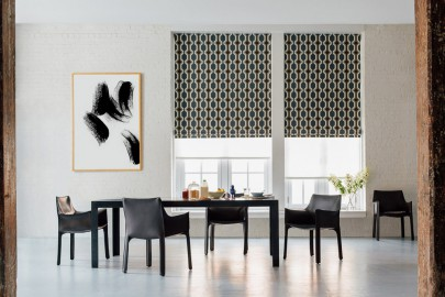 Flat Roman Shades by The Shade Store