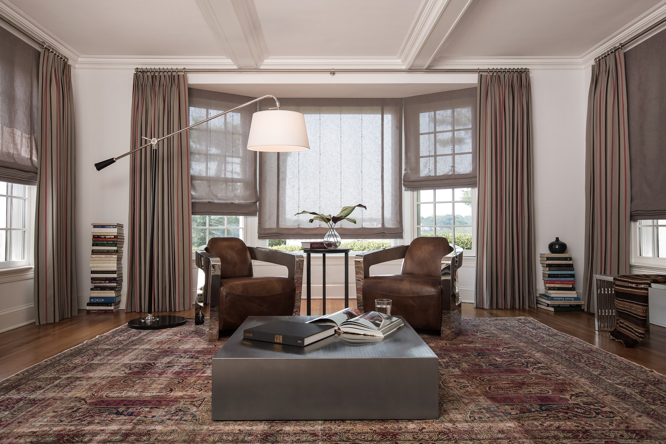 Windows to Read By - Tailored Pleat Drapery