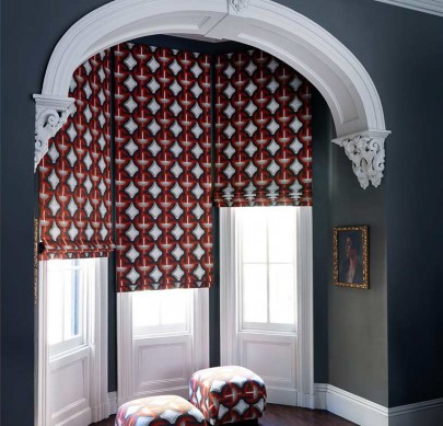 roman shades bay window