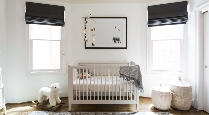 gender neutral nursery window treatments