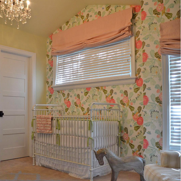 Pink Nursery Window Treatments