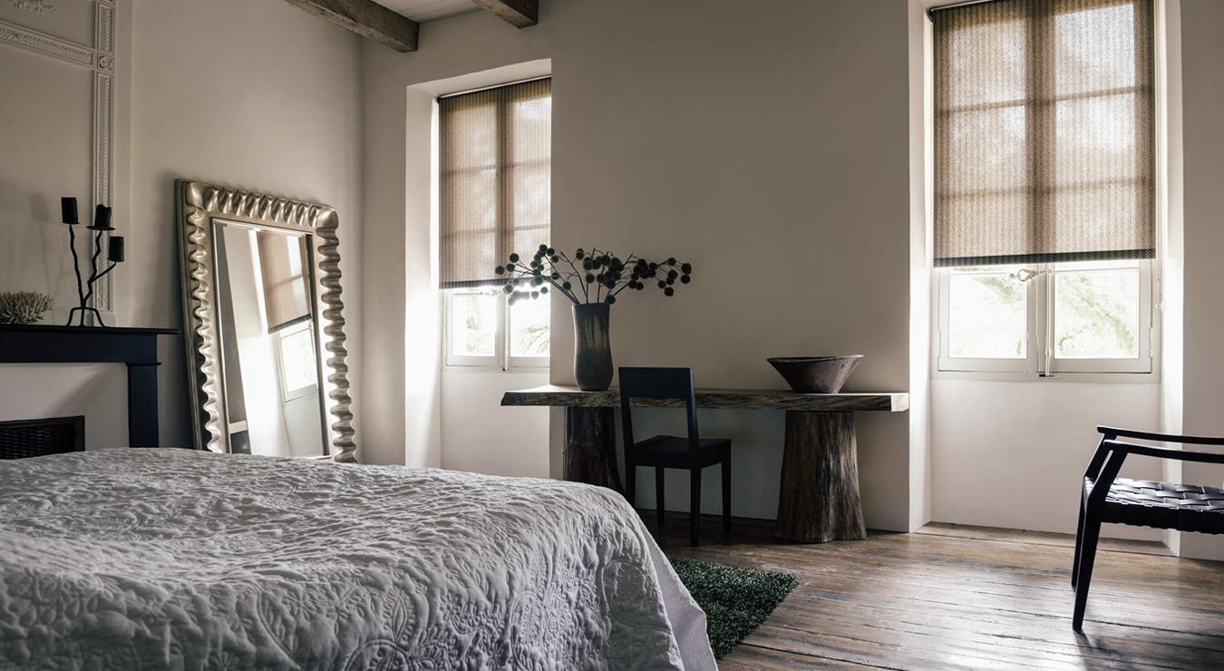roller shades bedroom