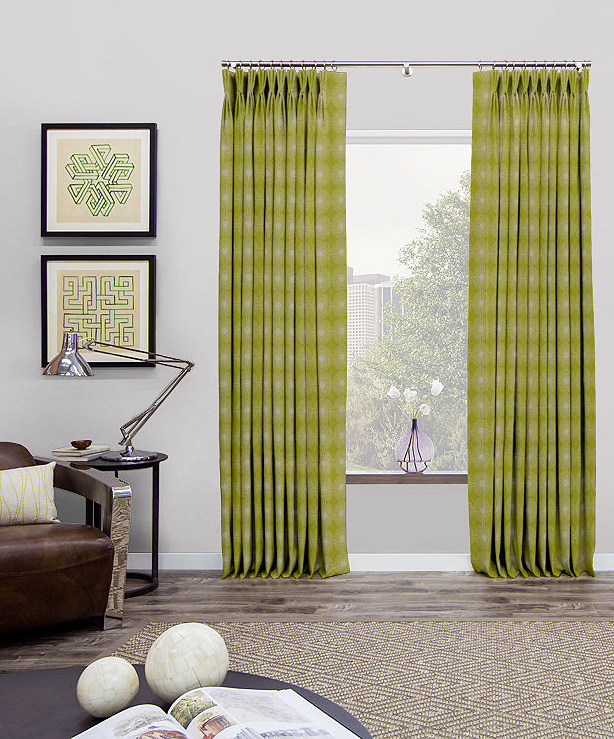 pinch pleat drapes mid century modern