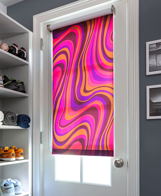 colorful roller shades