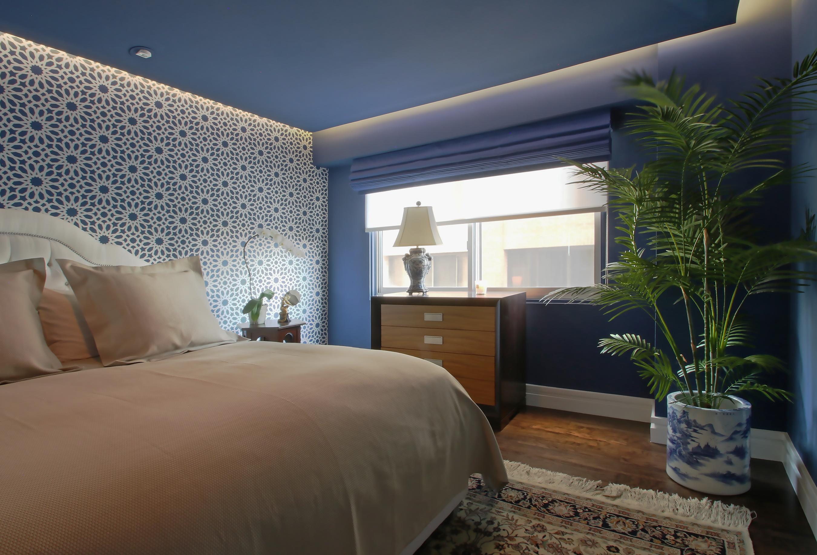 liberte chan master bedroom roman shade