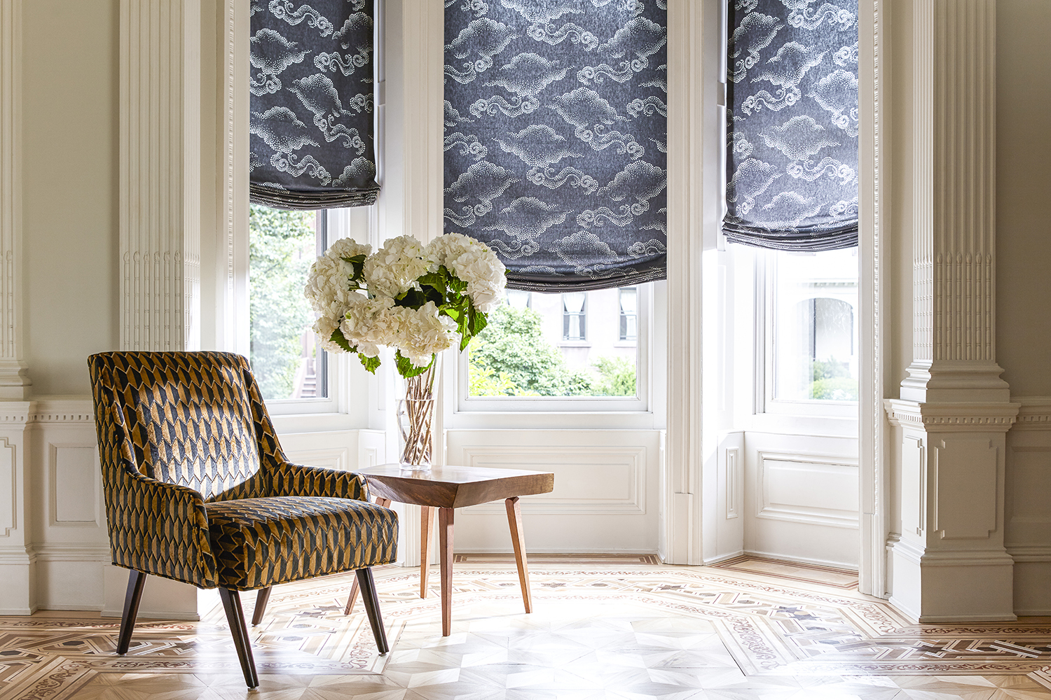 blue relaxed roman shades the shade store