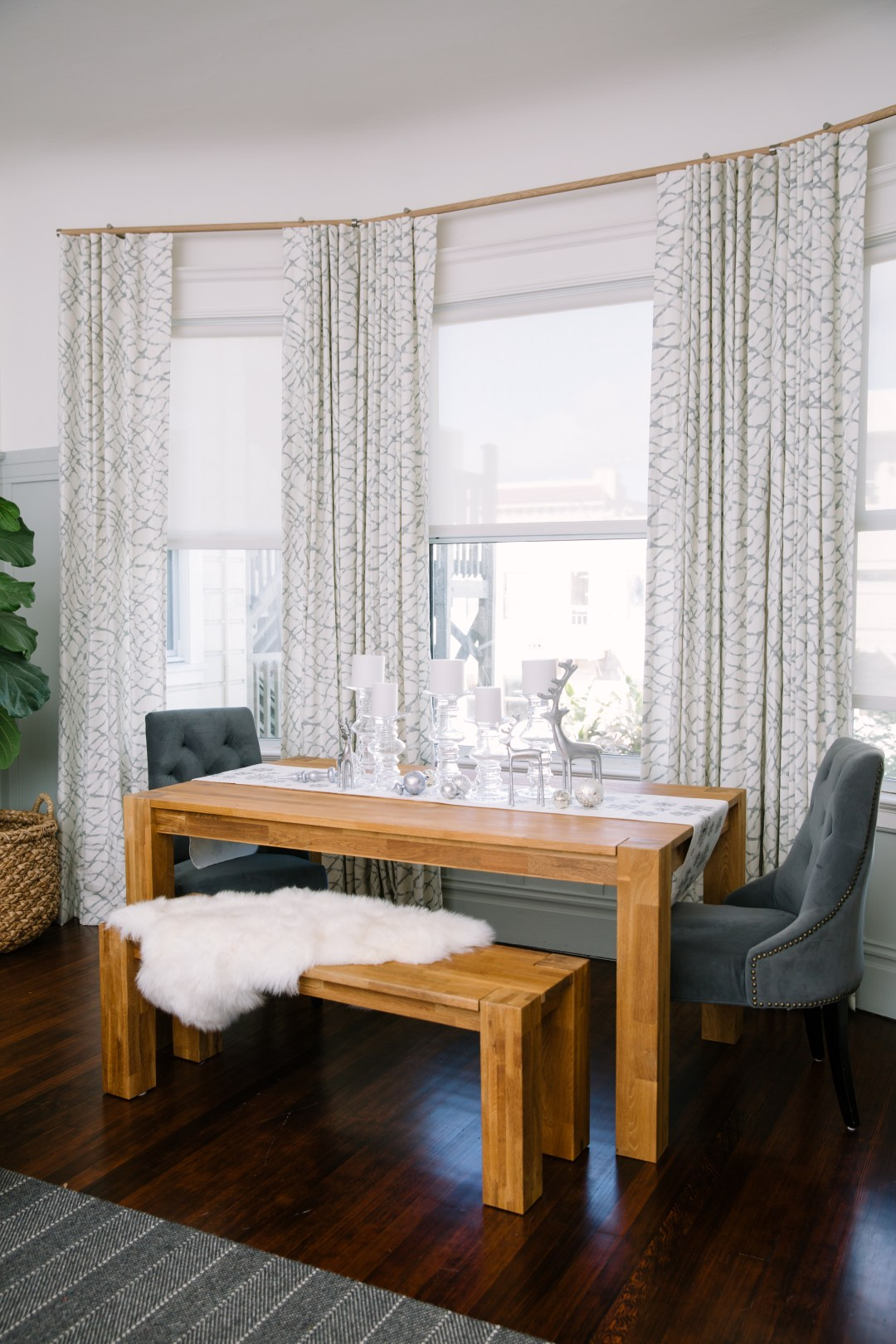 Dining Room Curtains Grey