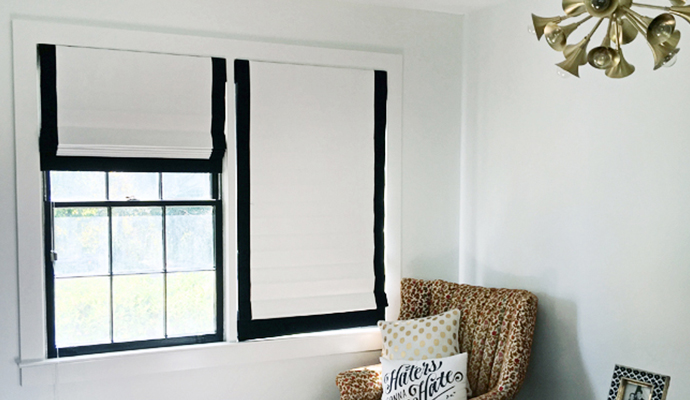 Black And White Roman Shades The Shade Store Blog