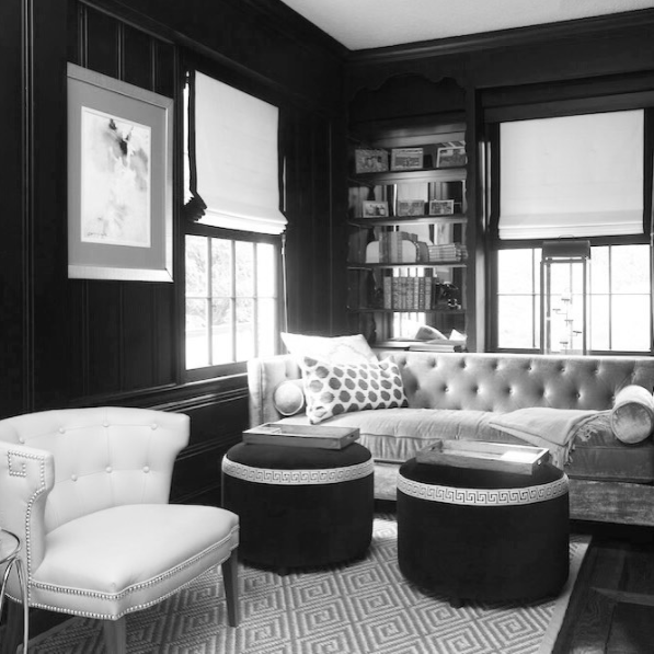 Black And White Library The Shade Roman Shades