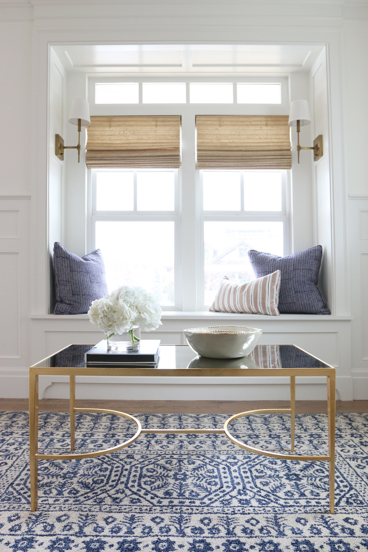 sweet window seat ideas  the shade store - woven wood shades window seat studio mcgee the shade store