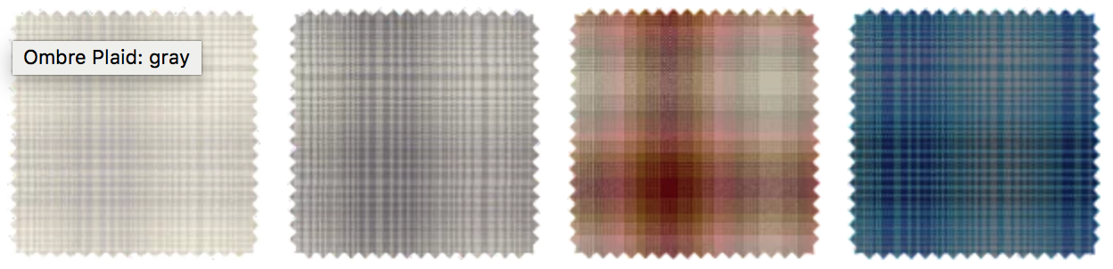Pendleton Ombre Plaid Swatches