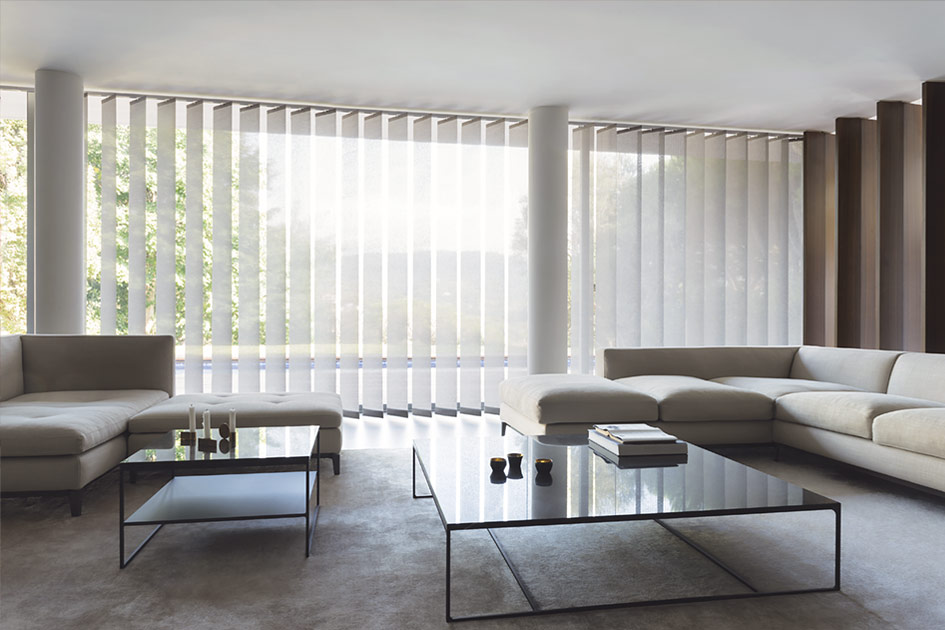 Xl Vertical Blinds. Material: Park, Color: Grey