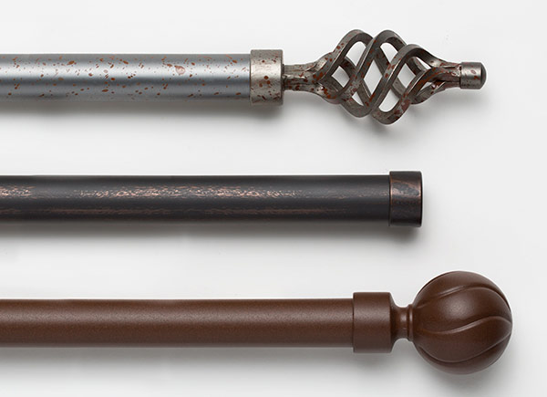 drapery rod - wrough iron collection