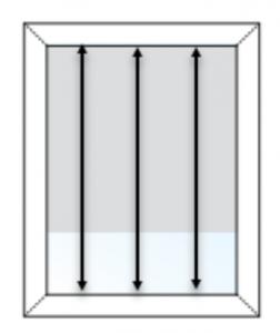 inside mount height measurement