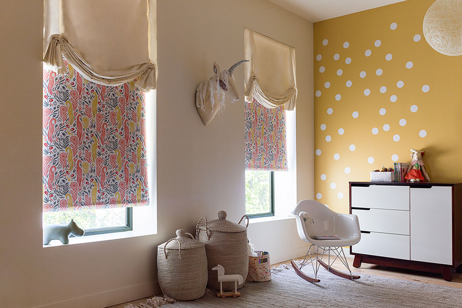 Roller Shades, Material: Boheme, Color: Blossom