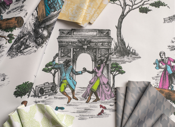 Harlem Toile - Sheila Bridges for The Shade Store