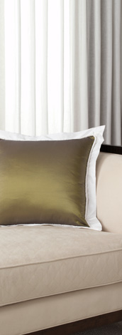 throw pillow with flange