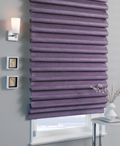 pleated roman shade